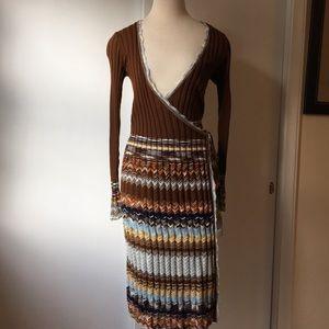 NWT Classic Missoni wrap dress, Size 6